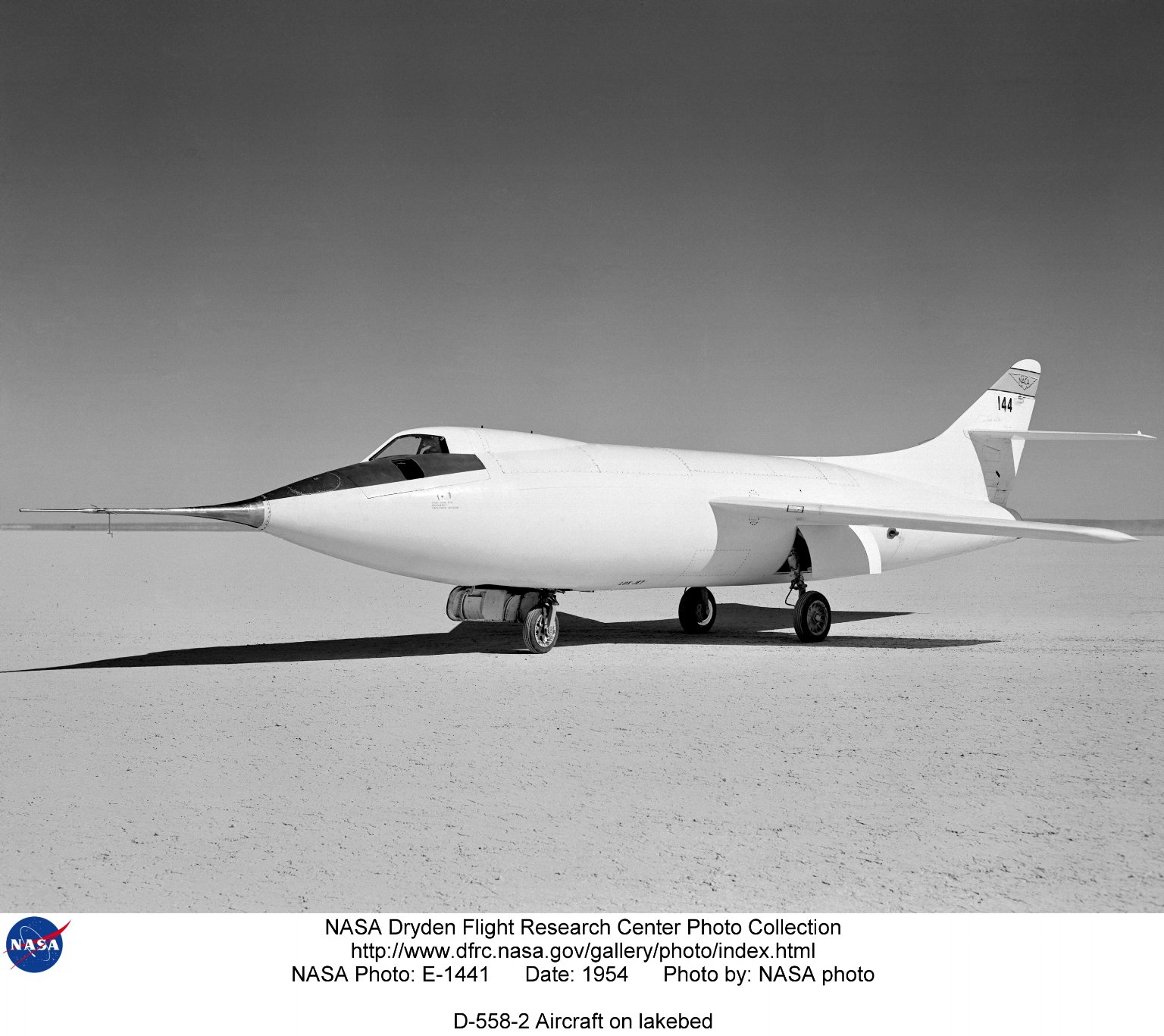 D-558-2 Aircraft on lakebed