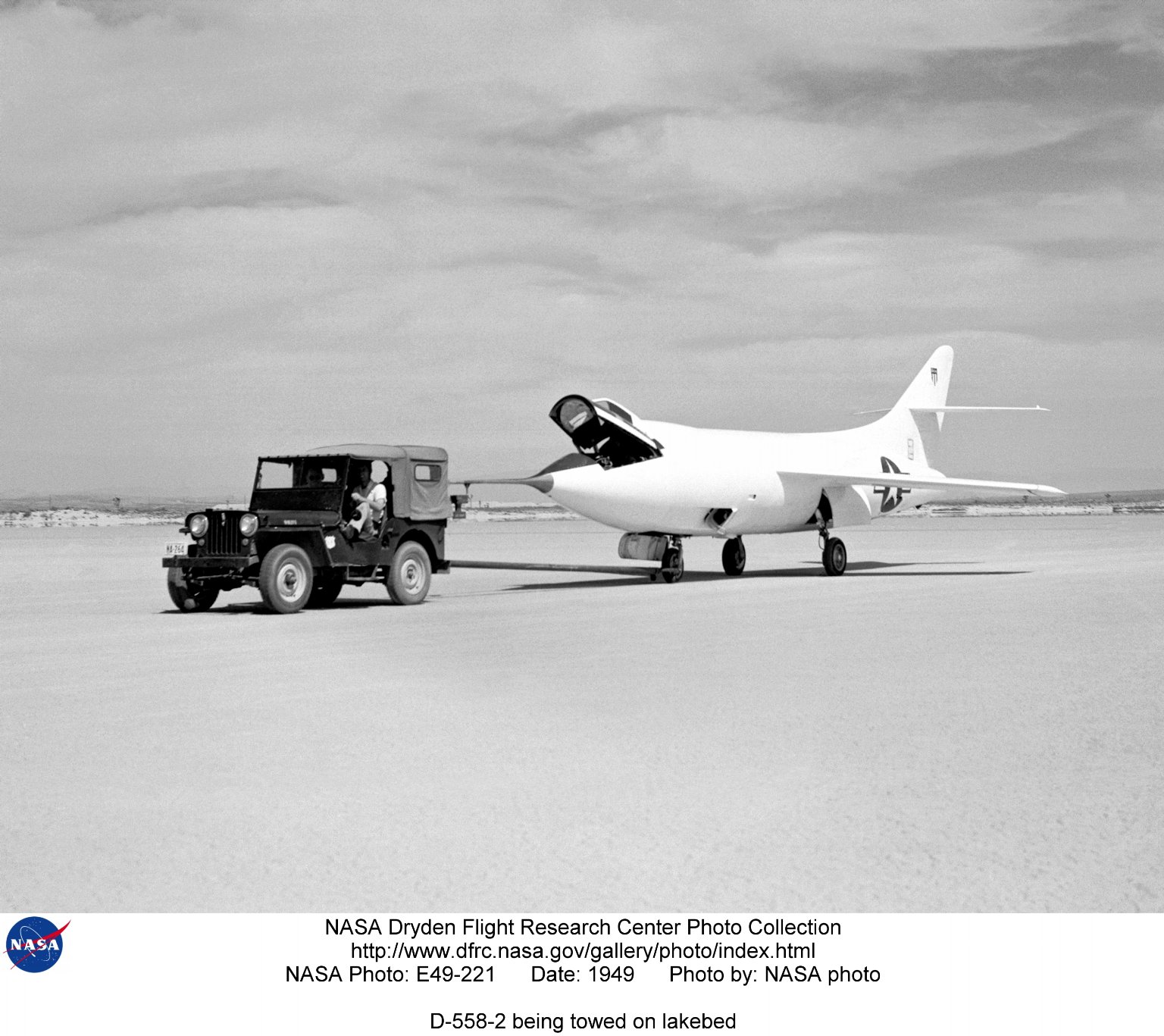 D-558-2 being towed on lakebed