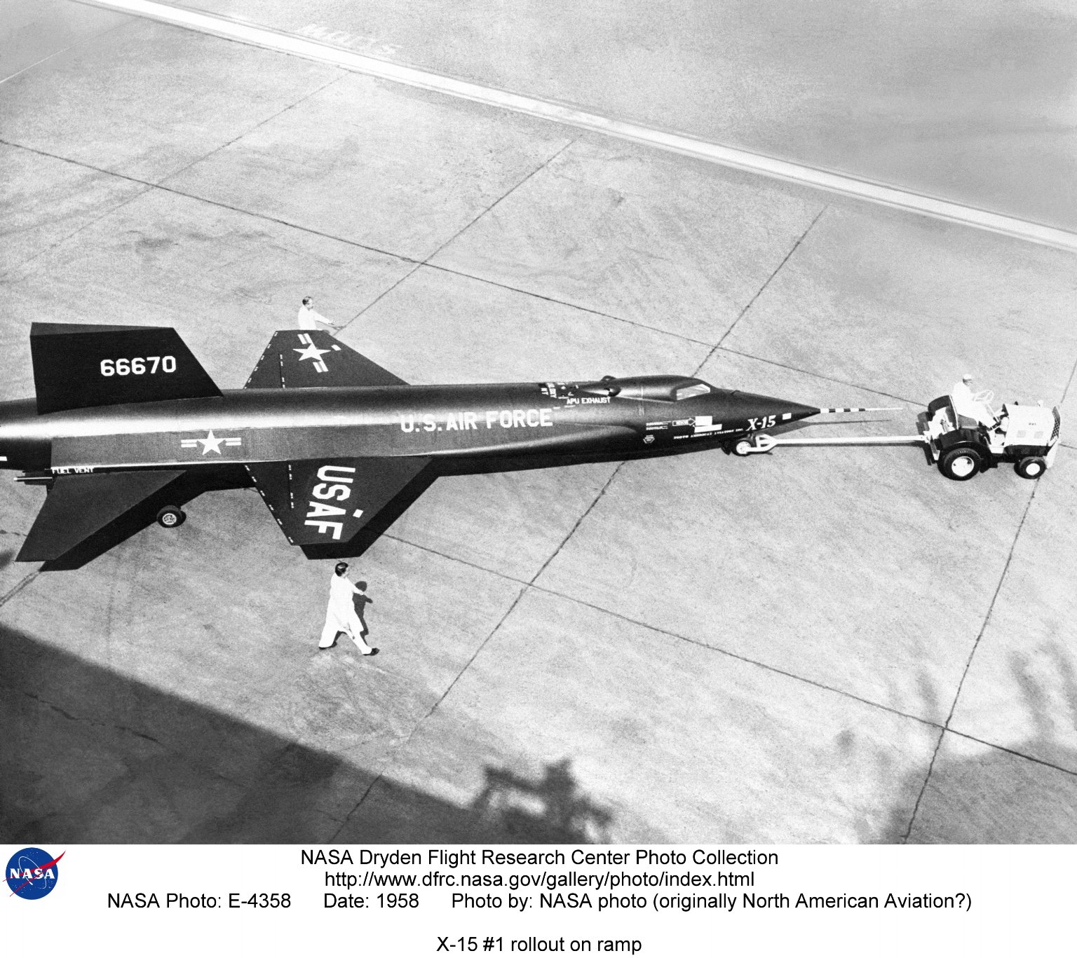 X-15 #1 rollout on ramp