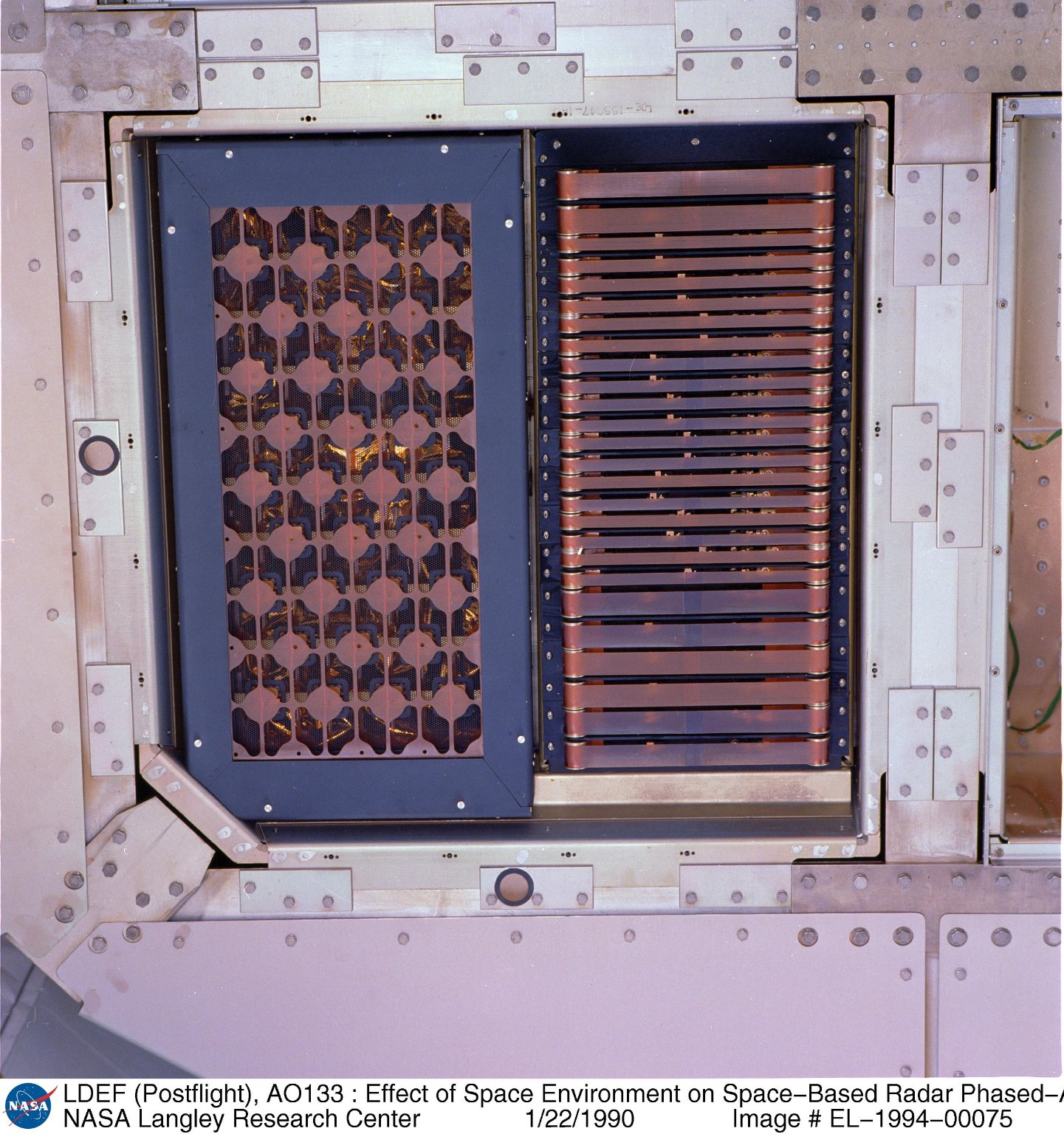 LDEF (Postflight), AO133 : Effect of Space Environment on Space-Based Radar Phased-Array Antenna, Tr
