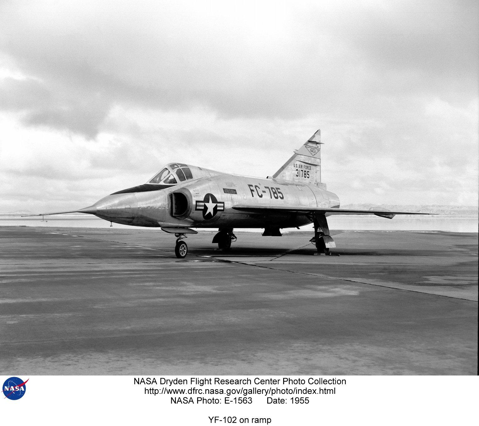 YF-102 on ramp