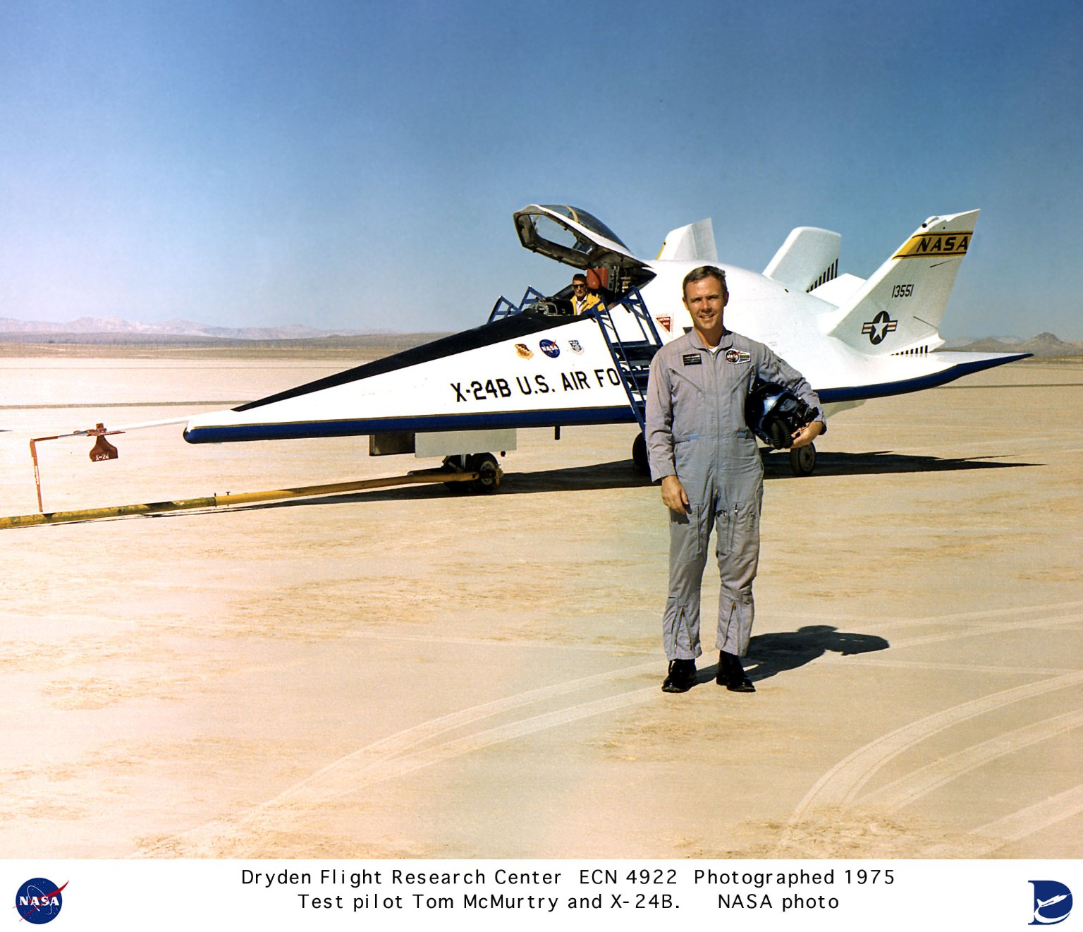 X-24B with Test Pilot Tom McMurtry