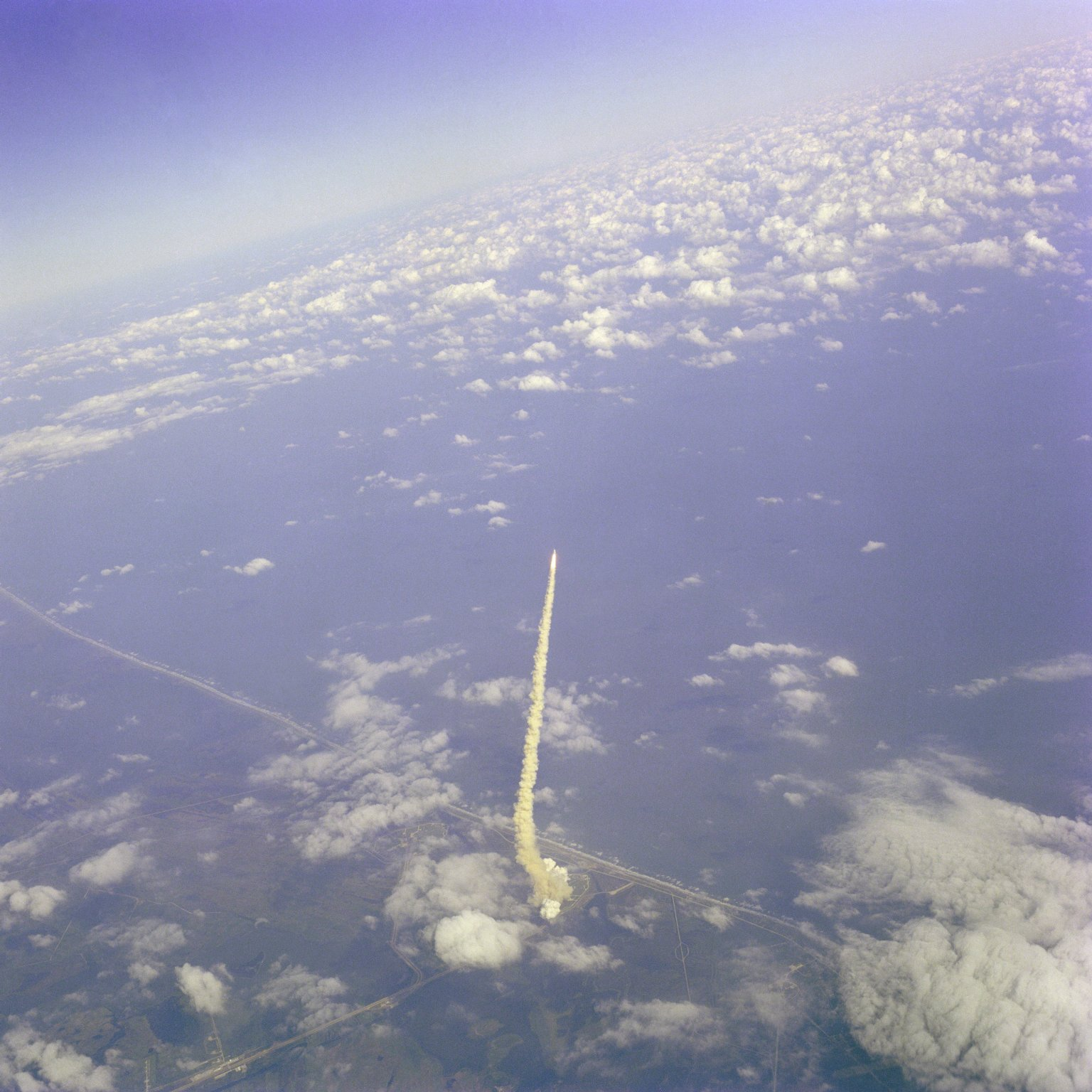 Aerial View of Columbia Launch