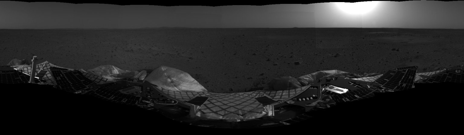 Spirit's View of Mars