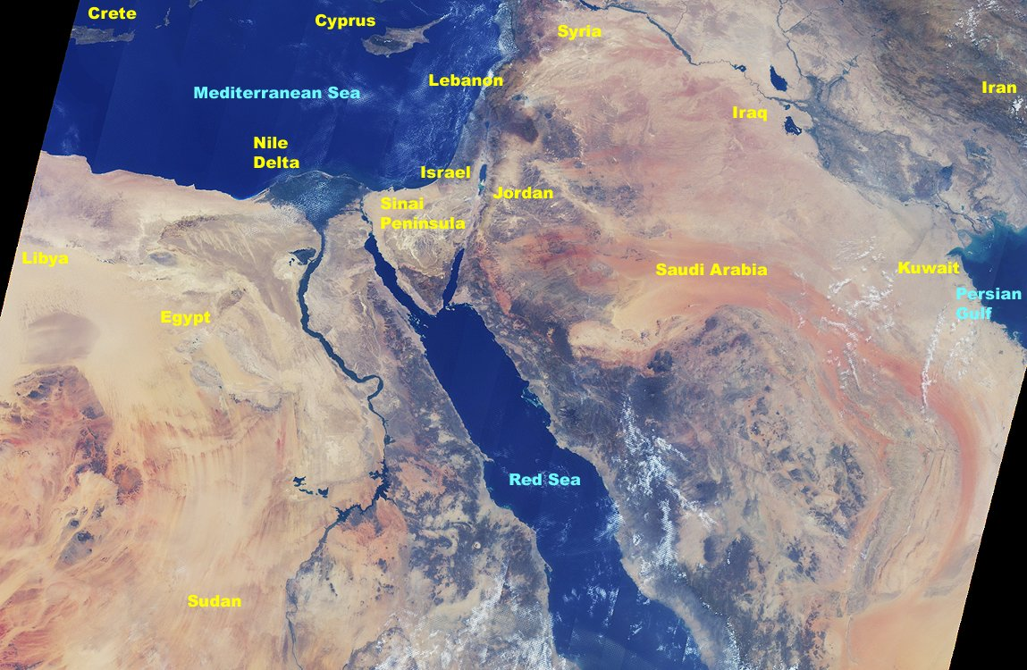 MISR Views the Middle East