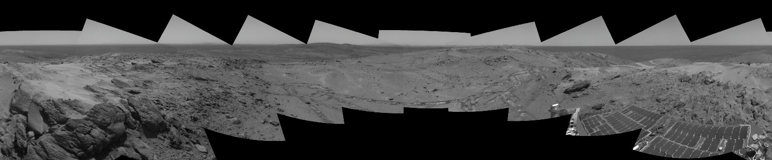 Looking Back at Spirit's Trail to the Summit (Stereo)