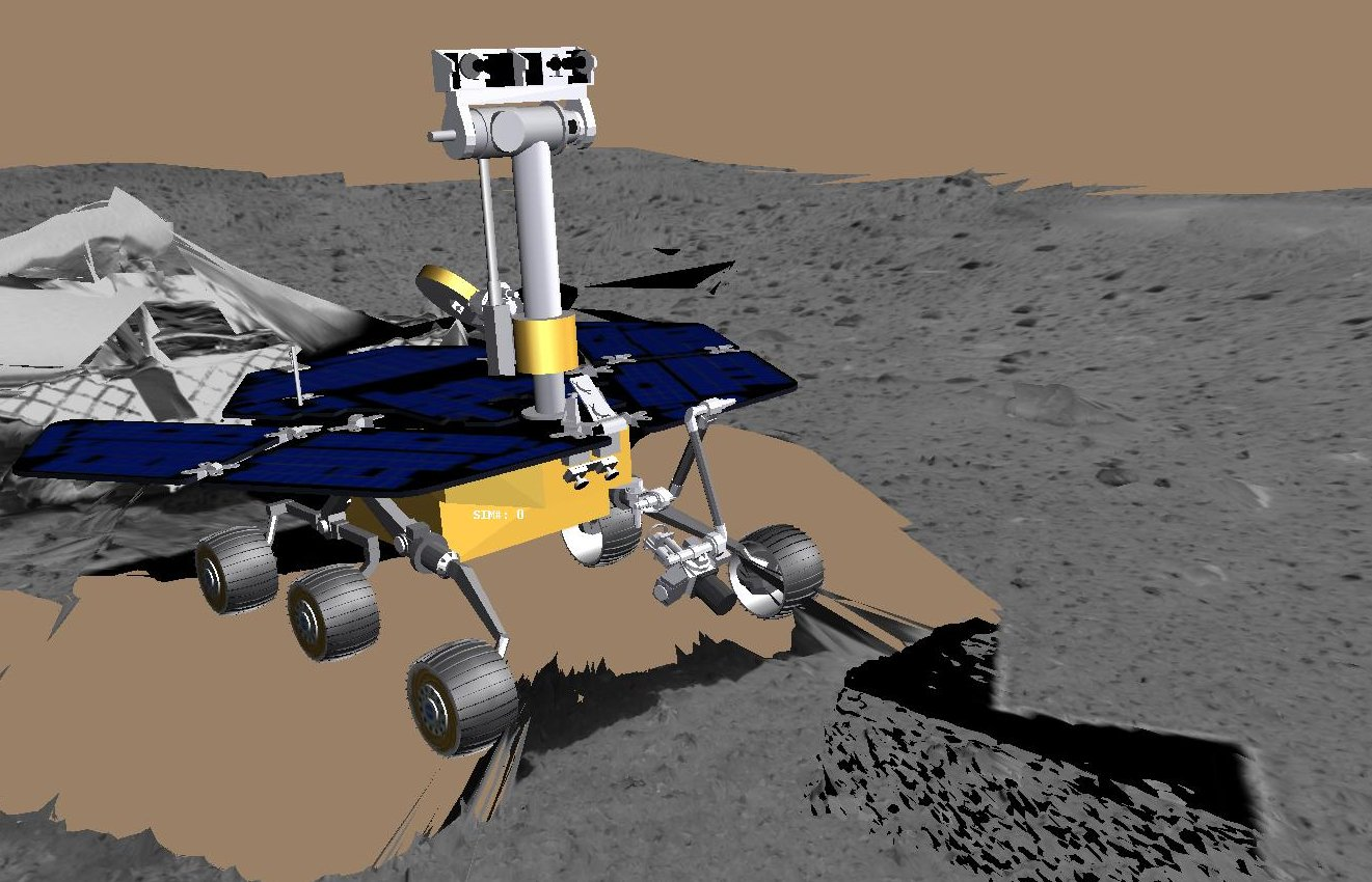 Virtual Rover Deploys Arm