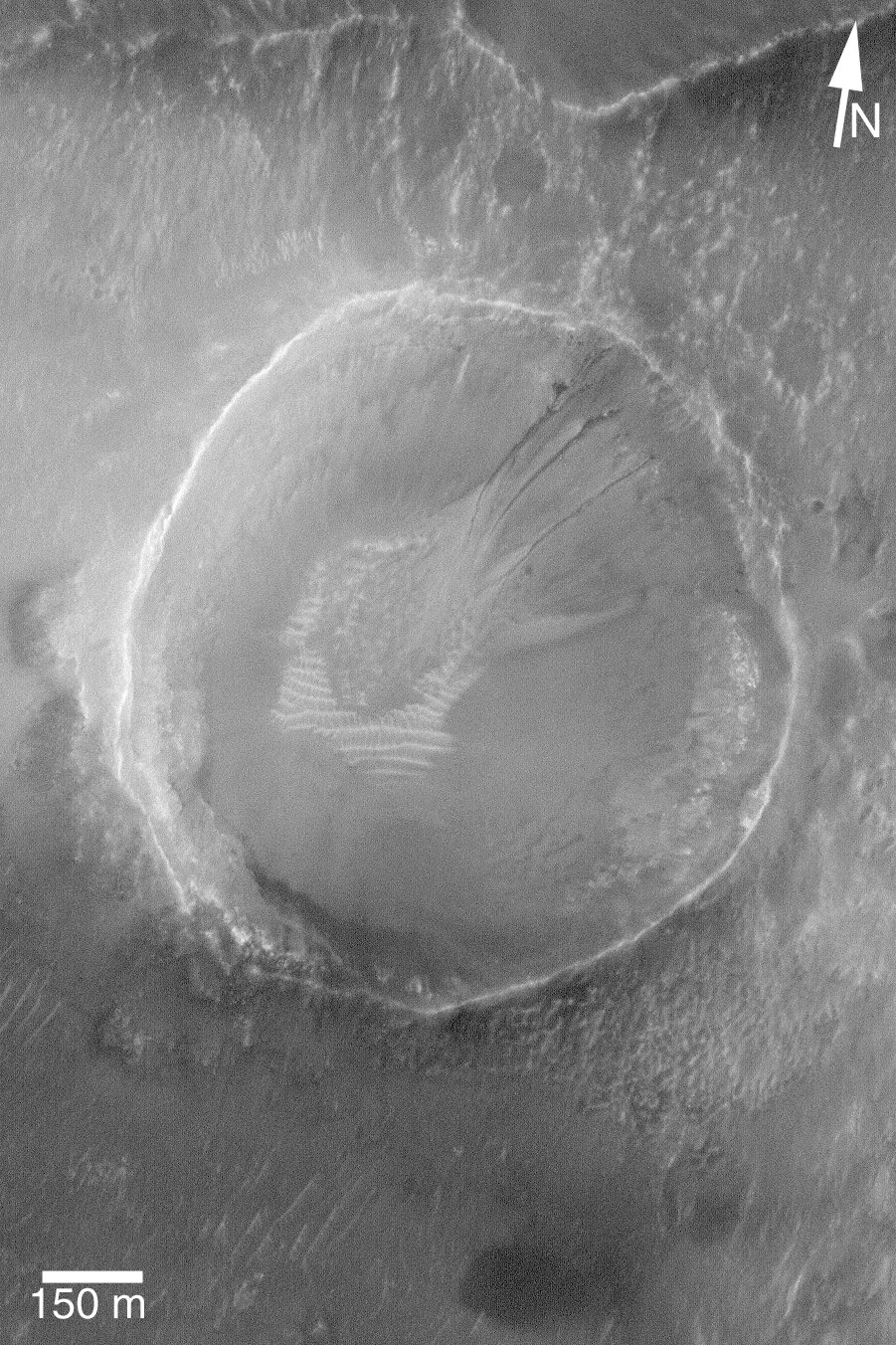 Small Gullied Crater