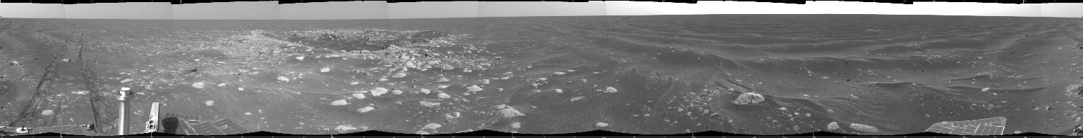 Opportunity's View of 'Viking' Crater, Sol 421