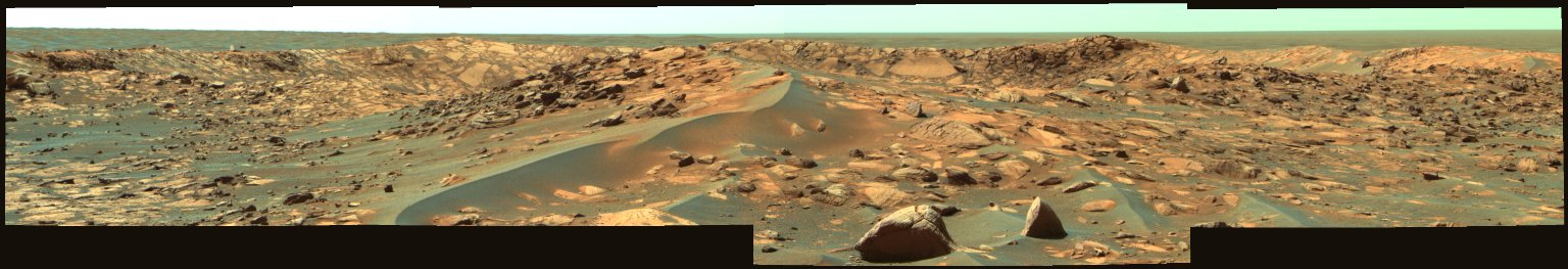 Opportunity Approaches the Bowl of Beagle Crater (False Color)
