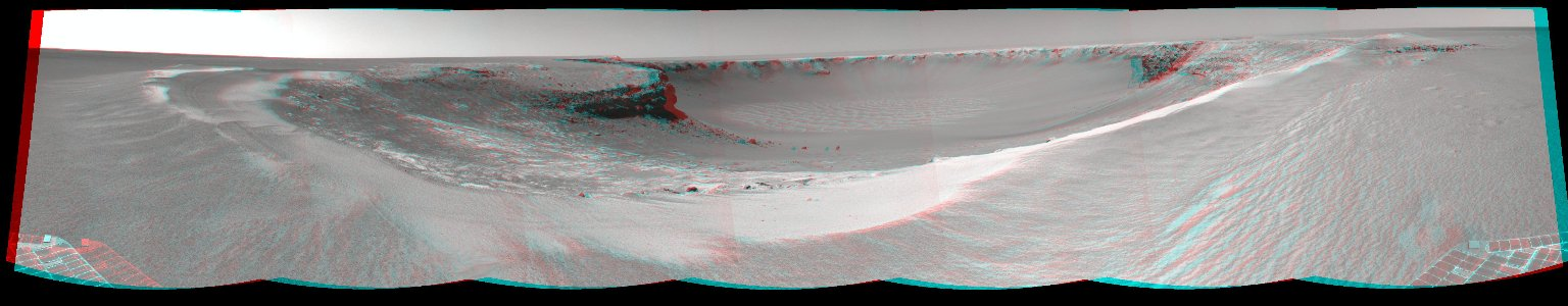 'Victoria Crater' from 'Duck Bay' (Stereo)