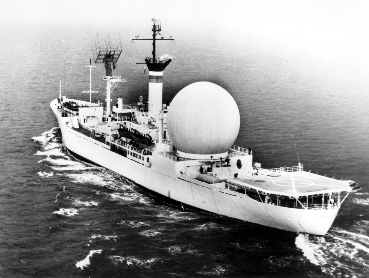 U.S.N.S. Kingsport, the first satellite communication ship