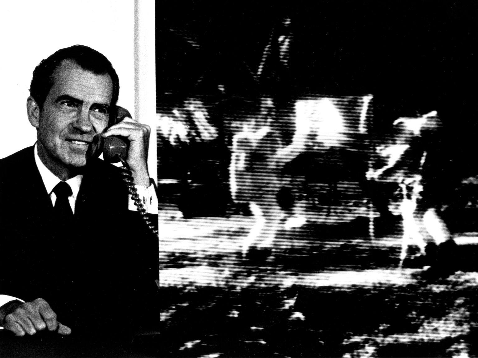 Nixon Telephones Armstrong on the Moon