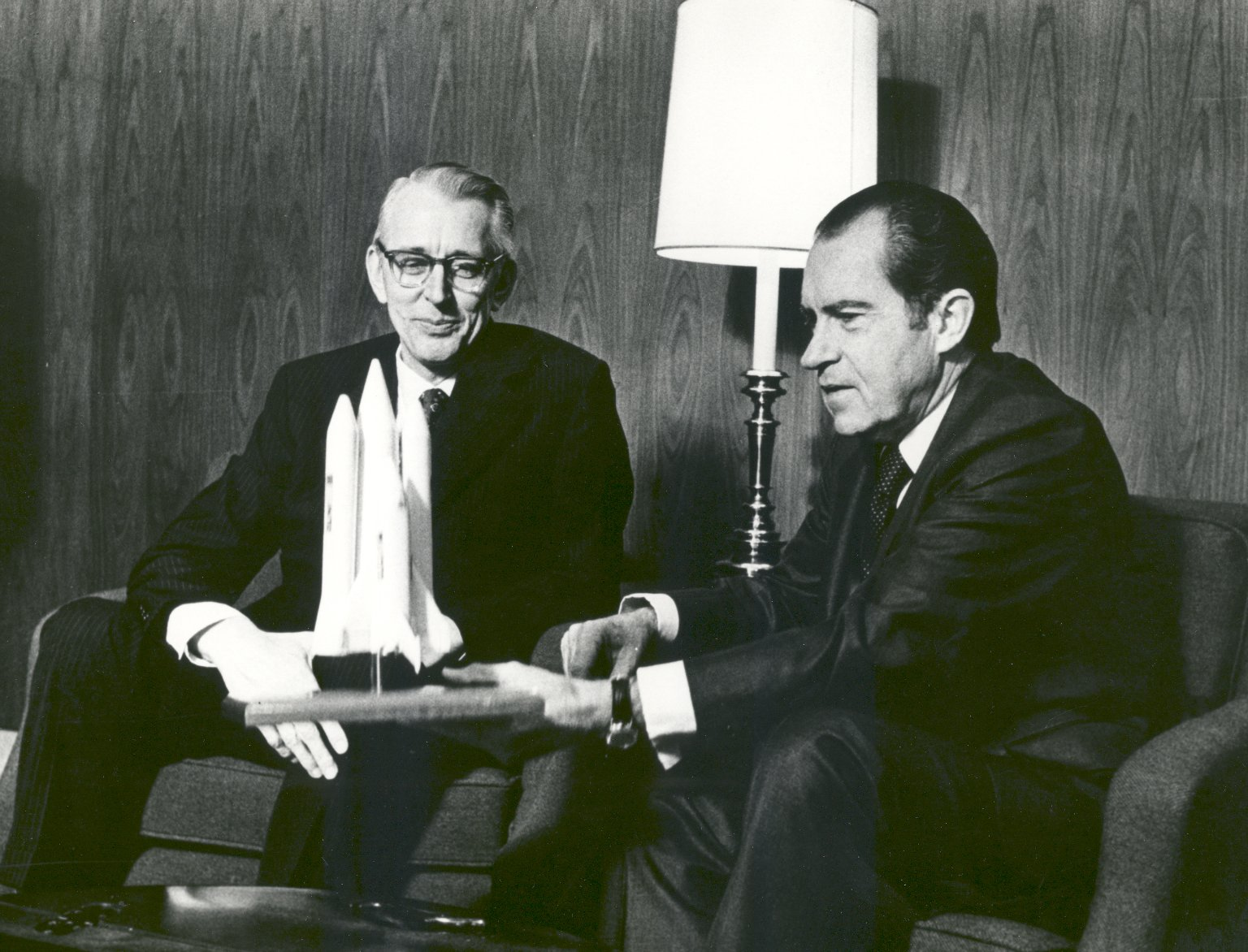 President Nixon and James Fletcher Discuss the Space Shuttle