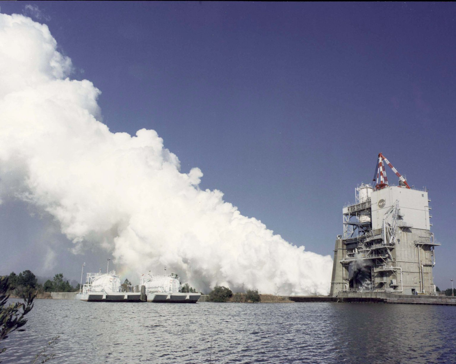 Space Shuttle Main Engine Test Firing