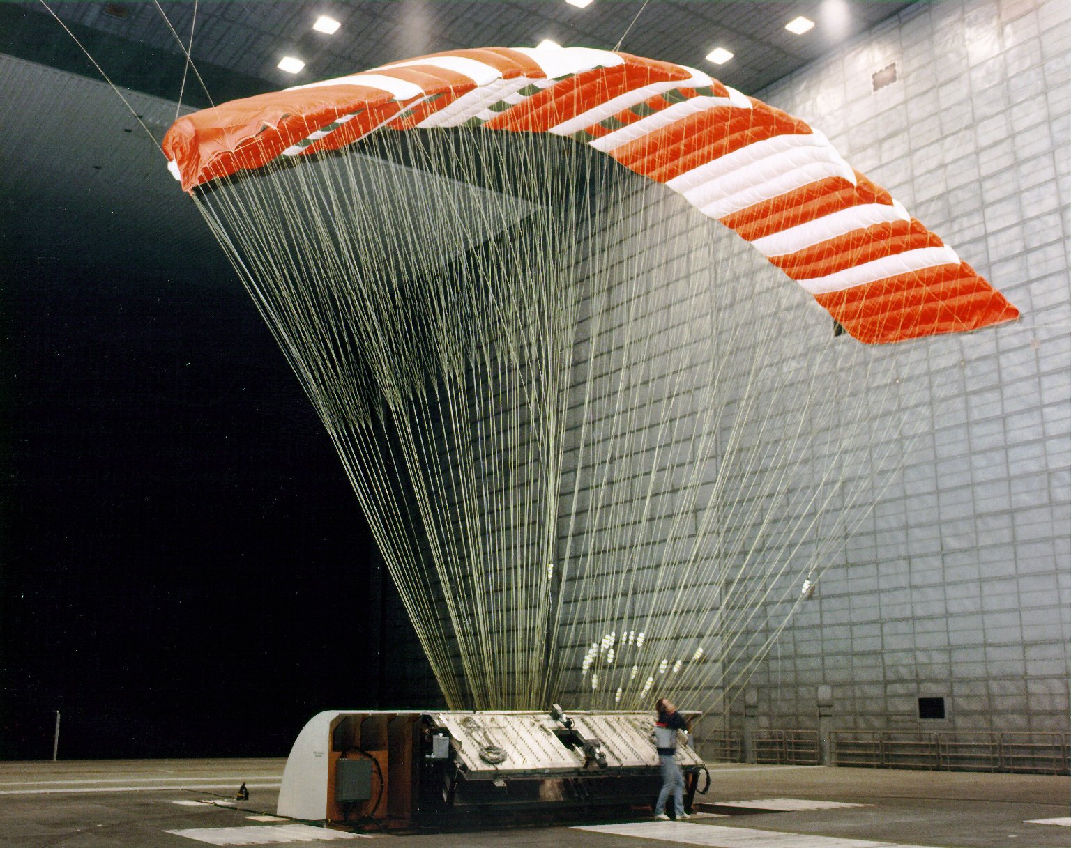 Parafoil in 80 x 120 Foot Wind Tunnel