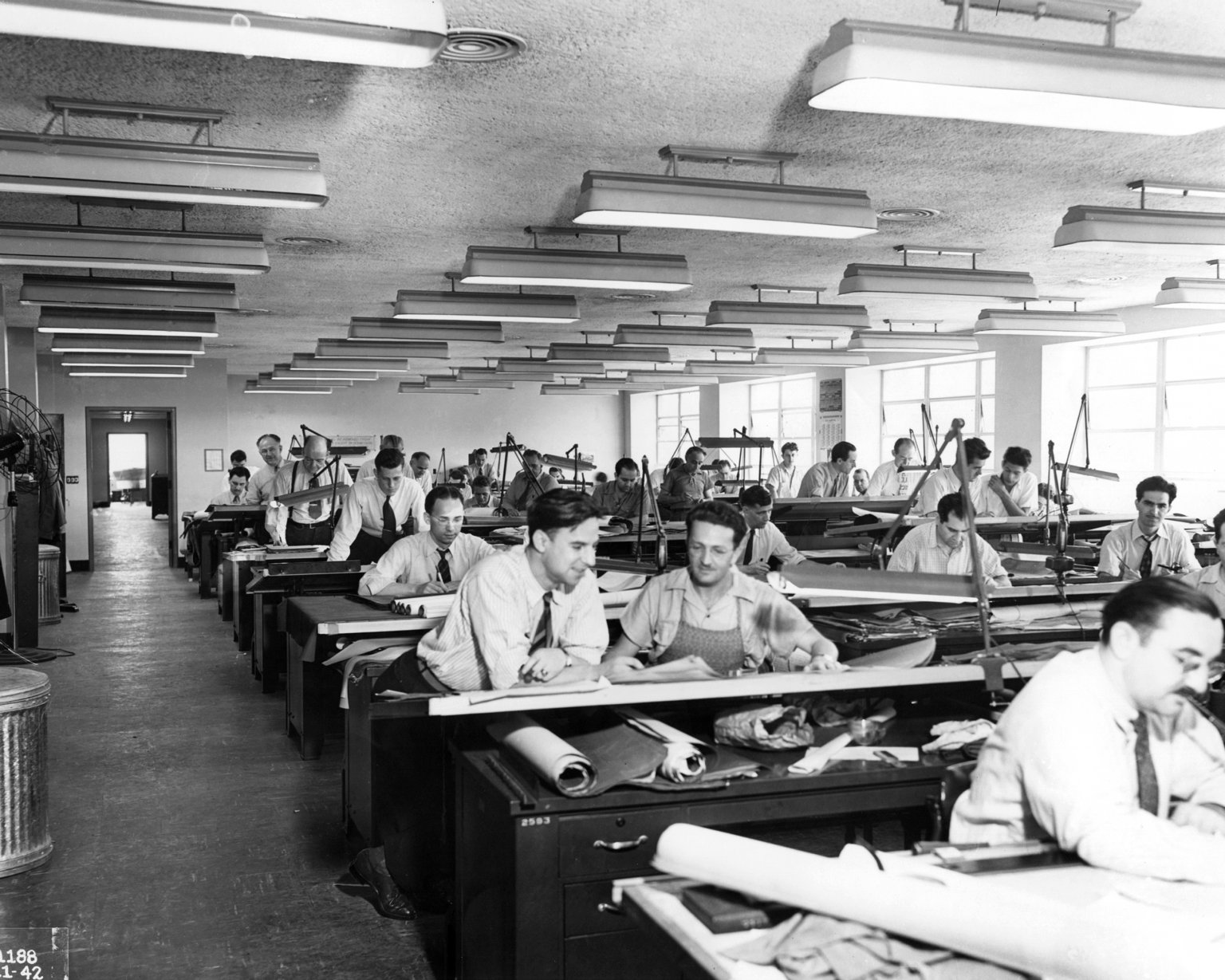 Interior View of Drafting Room in ERB