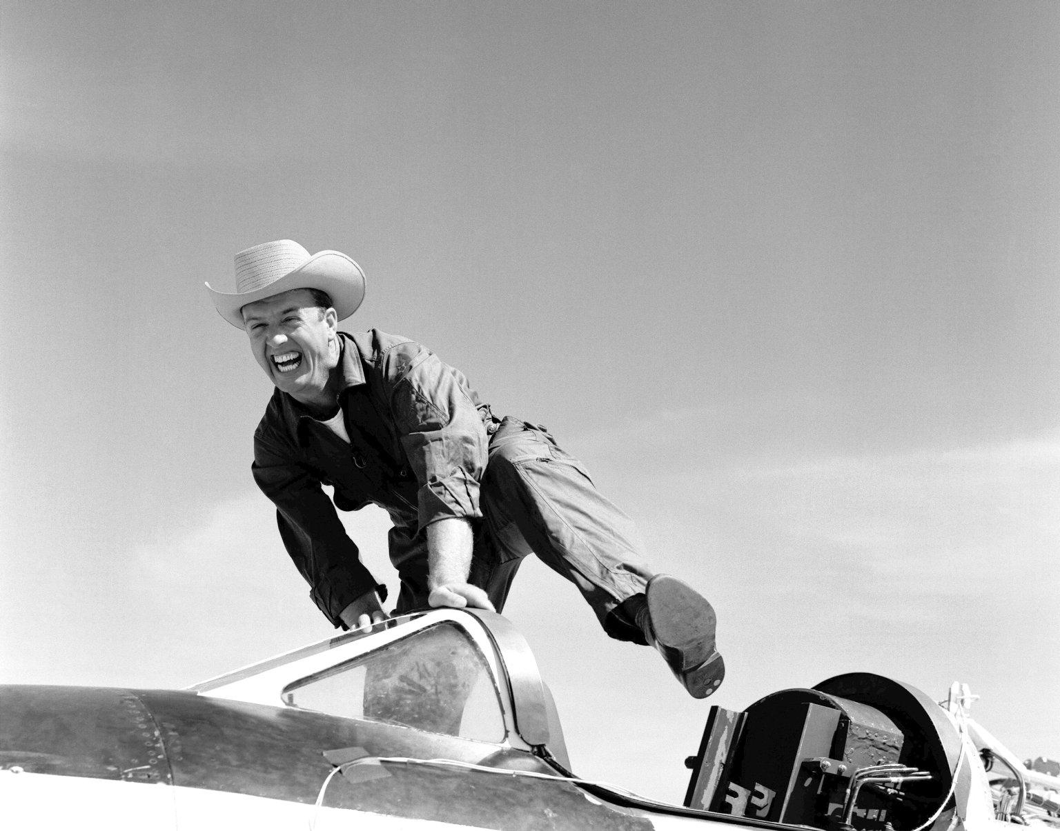 Pilot Joe Walker and the X-1A
