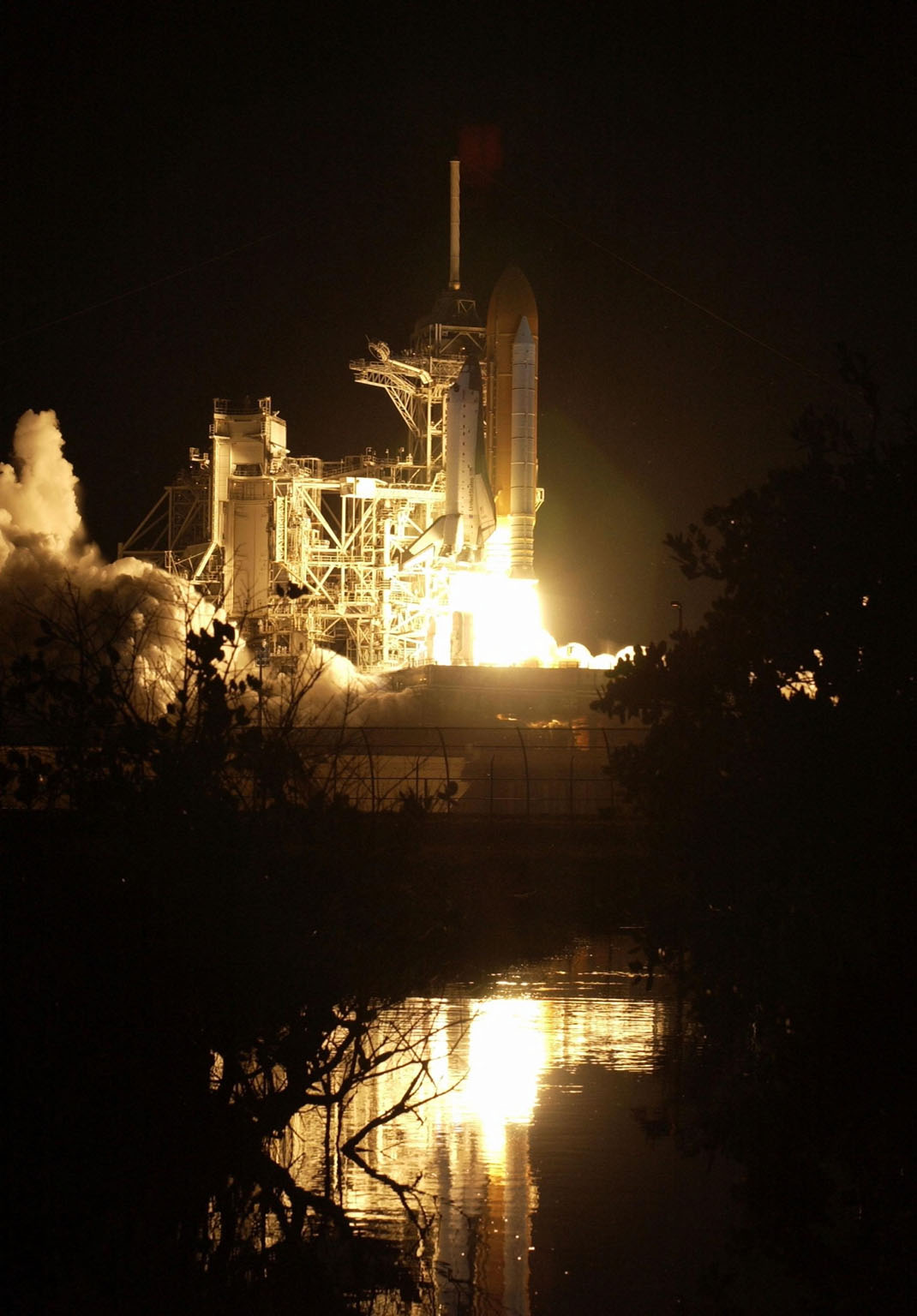 KENNEDY SPACE CENTER, Fla. - Space Shuttle Columbia spews flames and smoke as it leaps off the launch pad on its 27th flight into space on mission STS-109. Liftoff occurred at 6:22:02:08 a.m. EST (11:22:02:08 GMT). The goal of the mission is the maintenance and upgrade of the Hubble Space Telescope, to be carried out in five spacewalks. The crew of STS-109 comprises Commander Scott D. Altman, Pilot Duane G. Carey, Payload Commander John M. Grunsfeld, and Mission Specialists Nancy Jane Currie, Richard M. Linnehan, James H. Newman and Michael J. Massimino. After an 11-day mission, Columbia is expected to return to Kennedy March 12 about 4:35 a.m. EST (09:35 GMT).