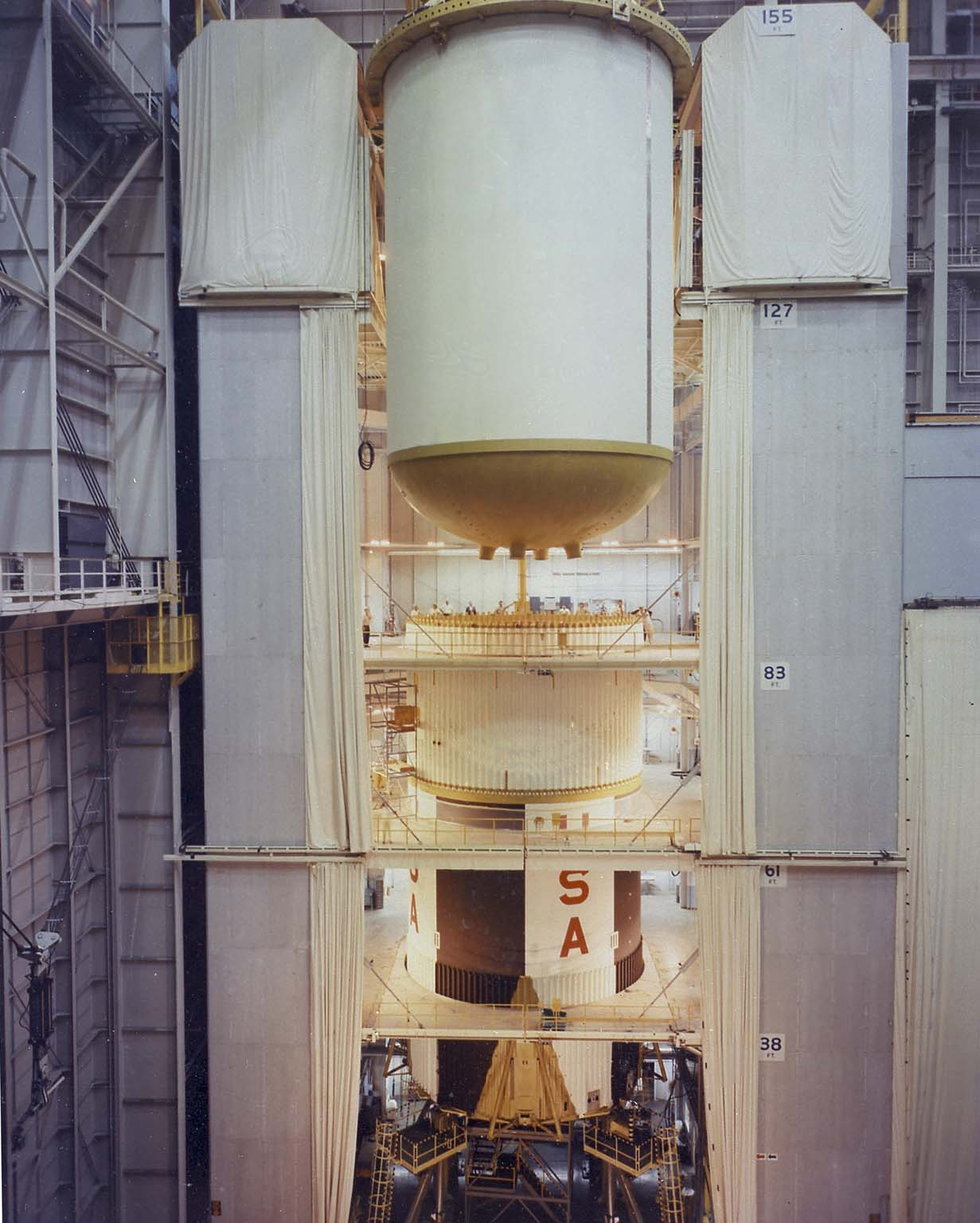 Assembling Saturn V S-IC (First) Stage at the Michoud Assembly Facility