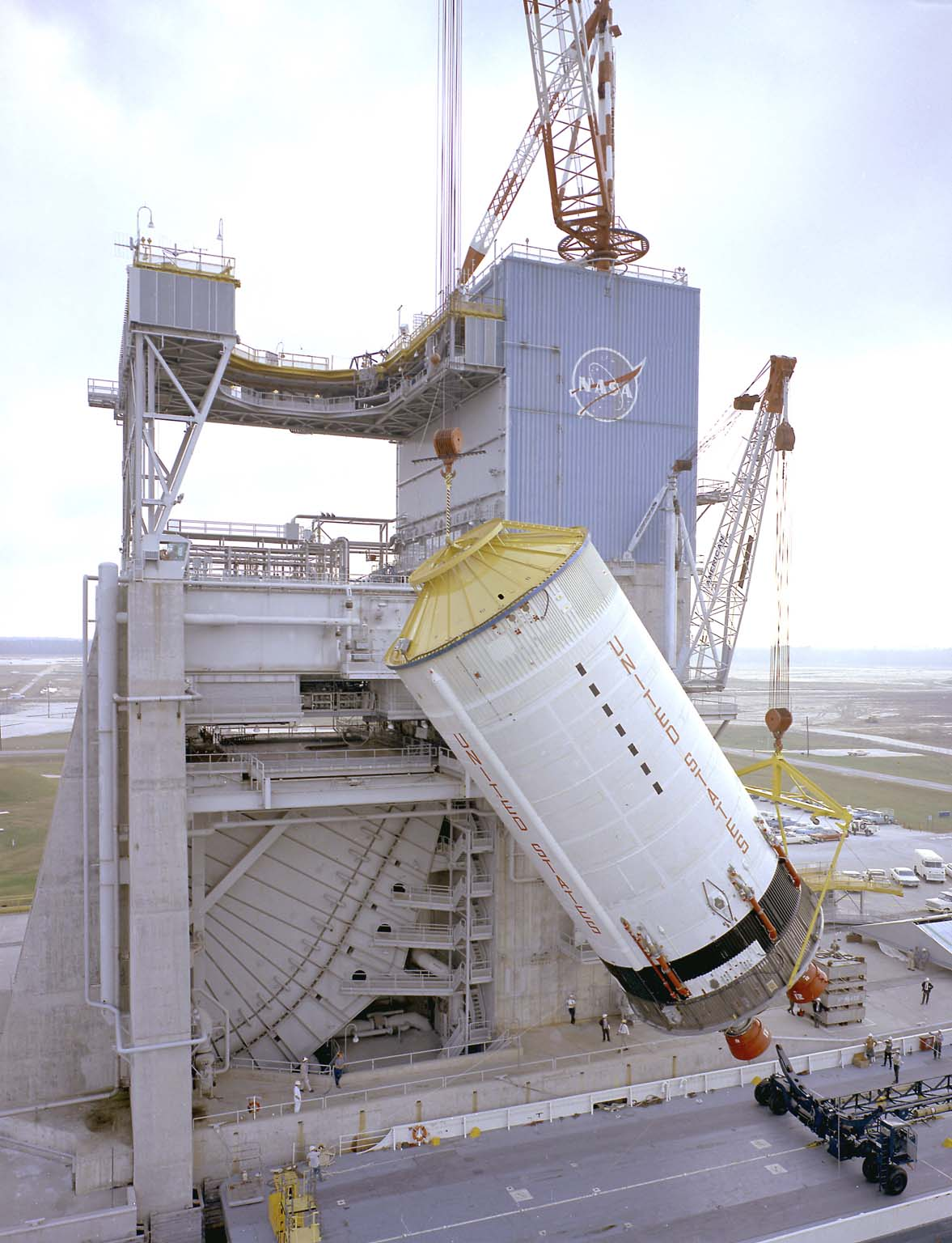 Saturn V S-II (Second) Stage at the Mississippi Test Facility