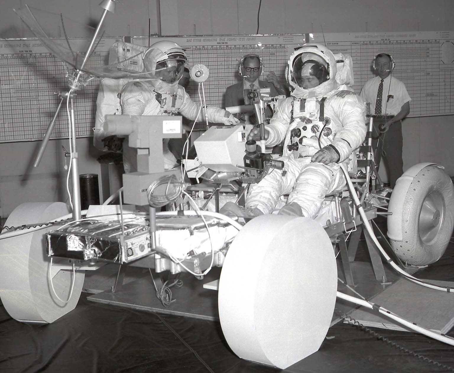 Astronauts Training on the Lunar Roving Vehicle
