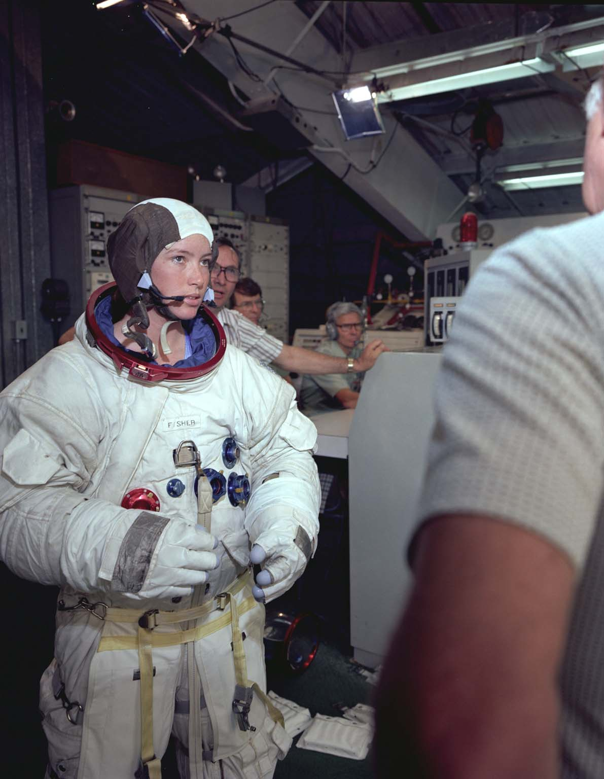 Astronaut Anna Fisher Suited Up For NBS Training