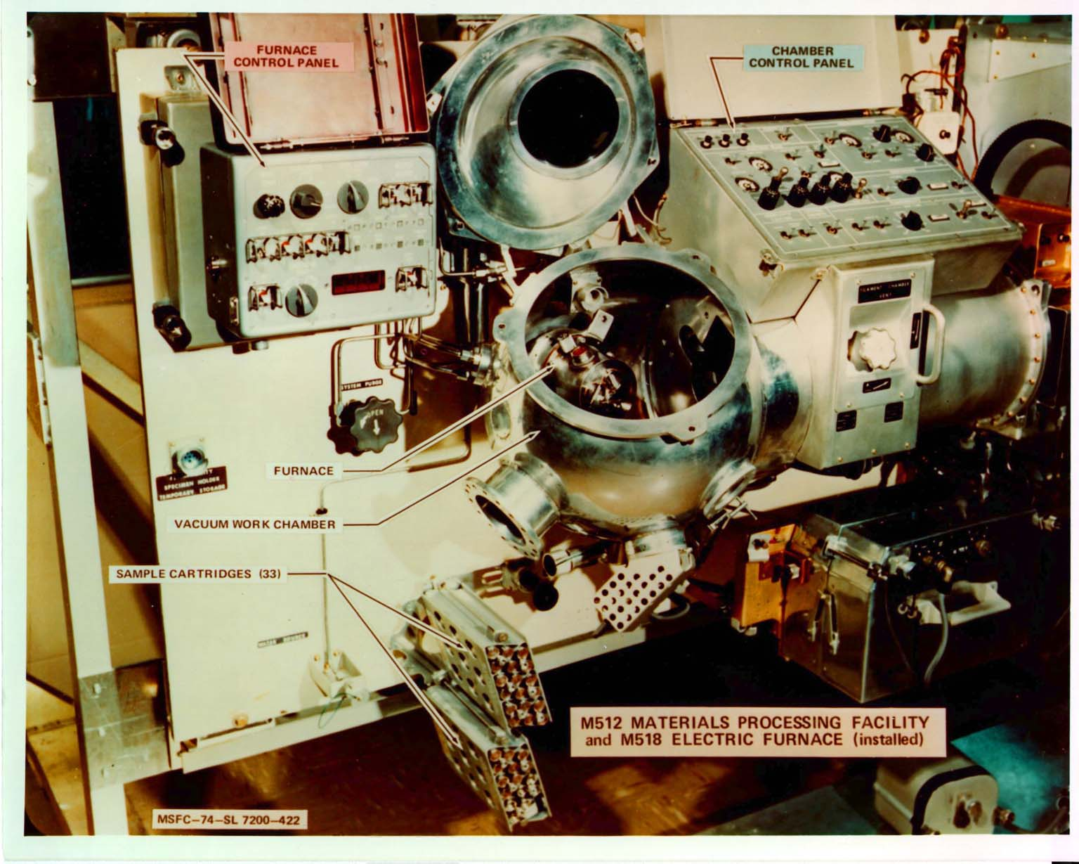 Skylab M512 Materials Processing Facility (MPF) with the M518 Multipurpose Electric Facility (MEF)