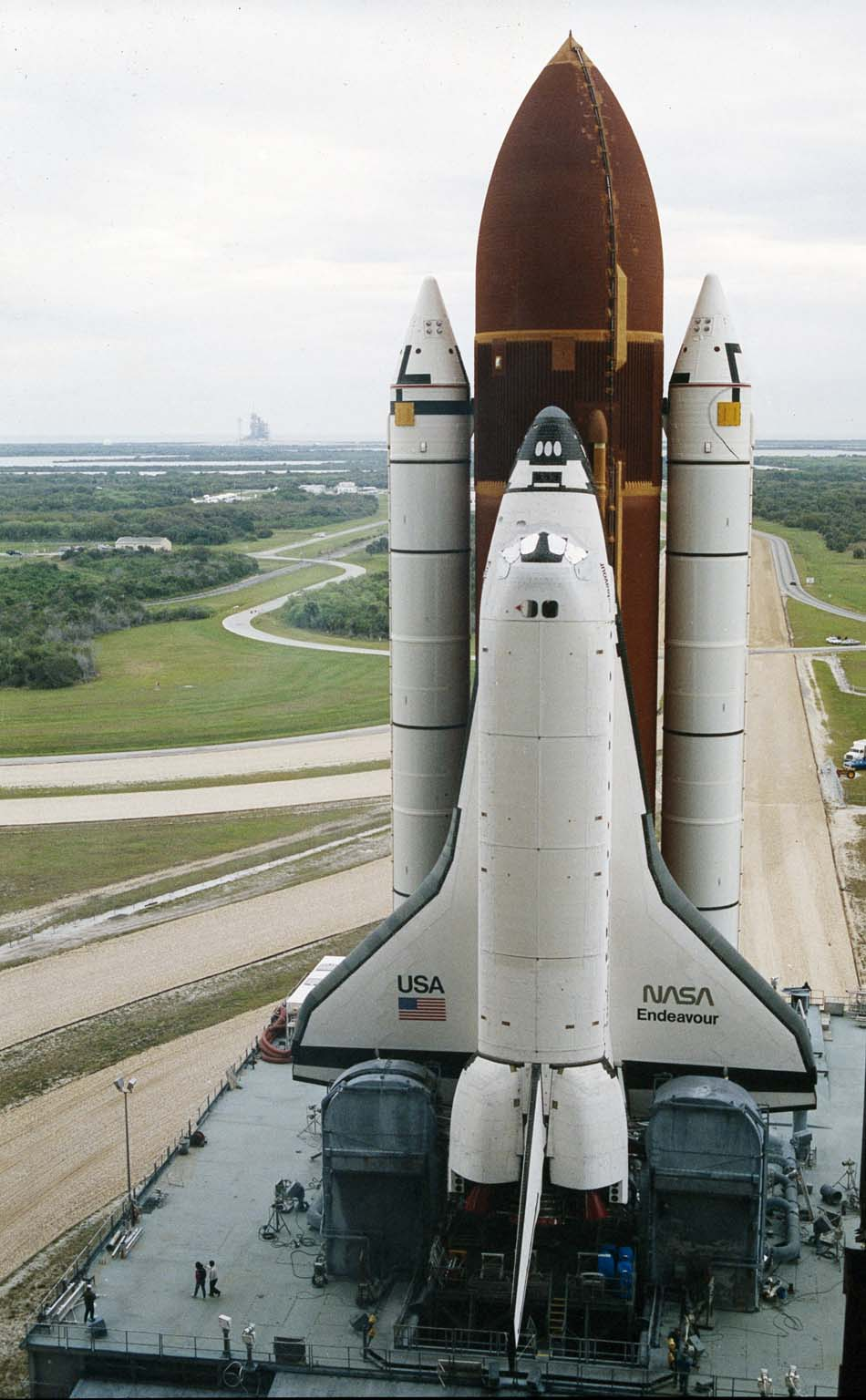 STS-49 Roll Out