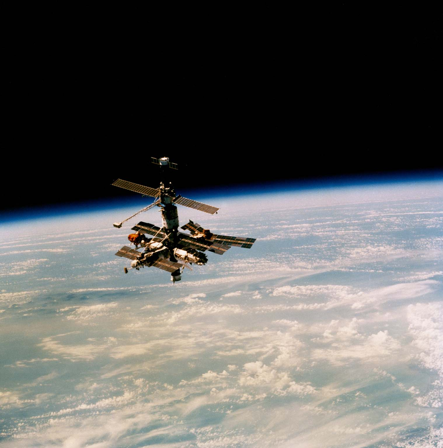Shuttle and Mir Docking